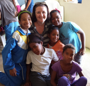 Mel and some girls from Temperance Town Aftercare