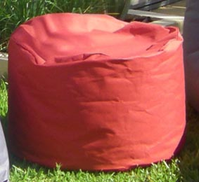 outdoor beanbag round stool
