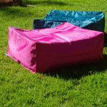square stool by Outdoor Beanbags