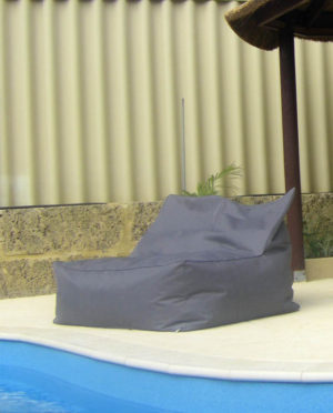 pool side double lounger outdoor beanbag
