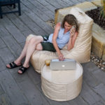 Outdoor Beanbags Ottoman Chair Round Stool